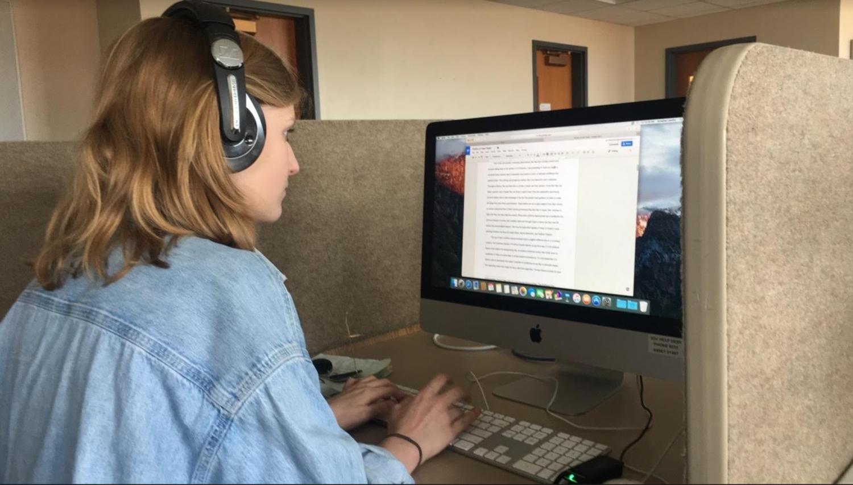 Junior Annelise Laakko studies for finals.  (Photo from Lauren Praiss).