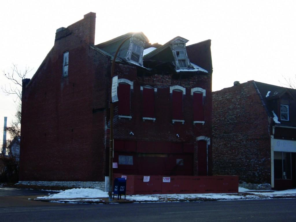 Buildings from various parts of North St. Louis have seen the effects of neglect and subsequent crime. (Laura Bleeke)