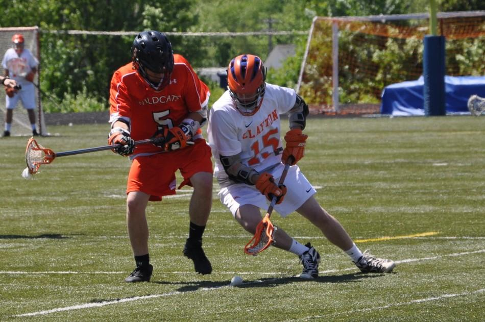 The Clayton boys lacrosse team faces the wildcats at Gay Field on Saturday April 21st, 2012.