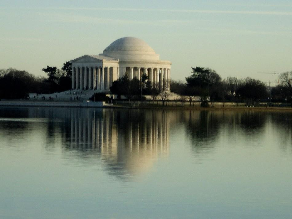 The Jefferson Memorial in Washington D.C. The memorial can be seen (as pictured above) from the Martin Luther King Jr. Memorial. (Peter Baugh)
