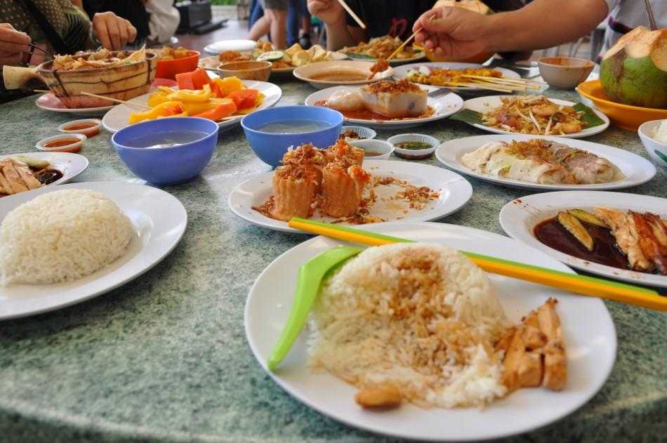 Various Malaysian dishes are spread across a table in preparation for a hearty lunch. This photo was taken during my 5-week long trip to Asia that was filled with delicious food tasting and culture enjoying. Photo by Regine Rosas