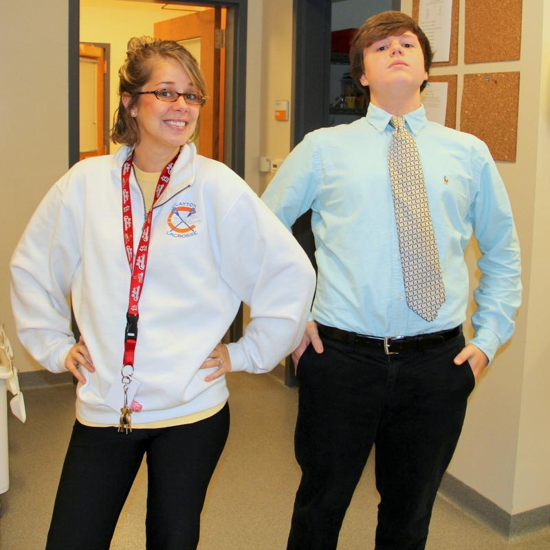 Some students and teachers really could have switched identities for the day, as was the case with CTE teacher Mrs. Compton and Freshman Nicholas Almond.