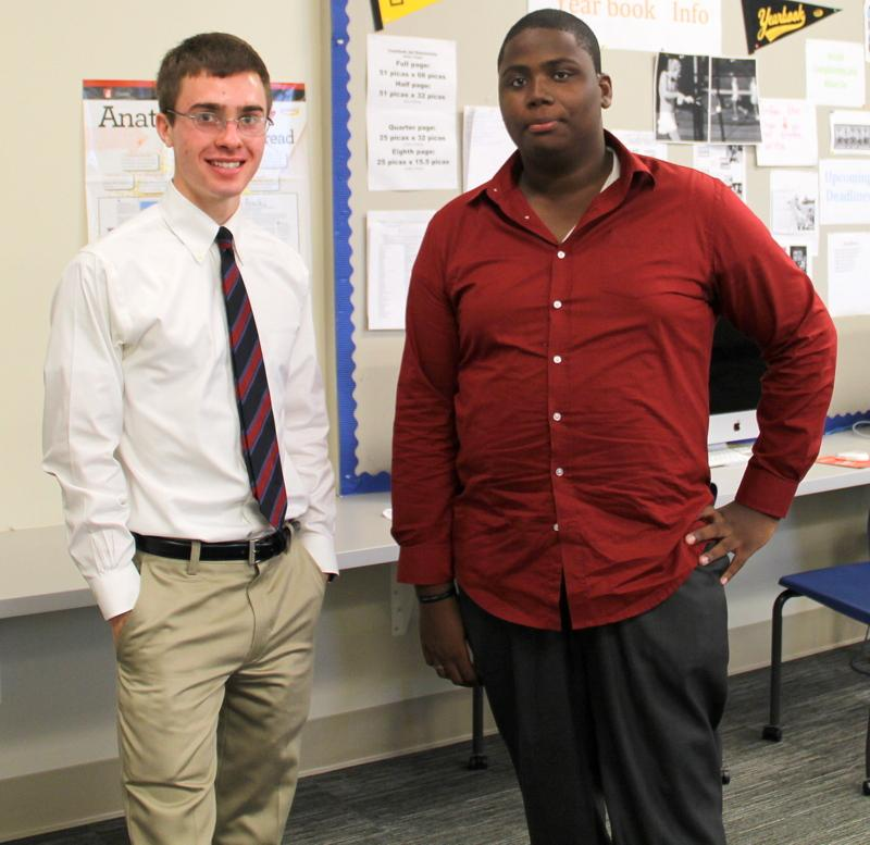 Senior Parker Schultz and Sophomore Jayson Lawshee showed their teacher potential as they worked overtime during lunch.