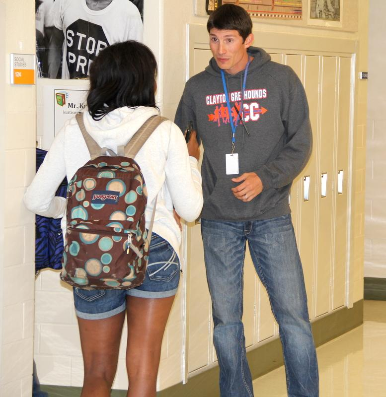 History teacher Kurtis Werner blended in with the students as he channeled his inner teenager.