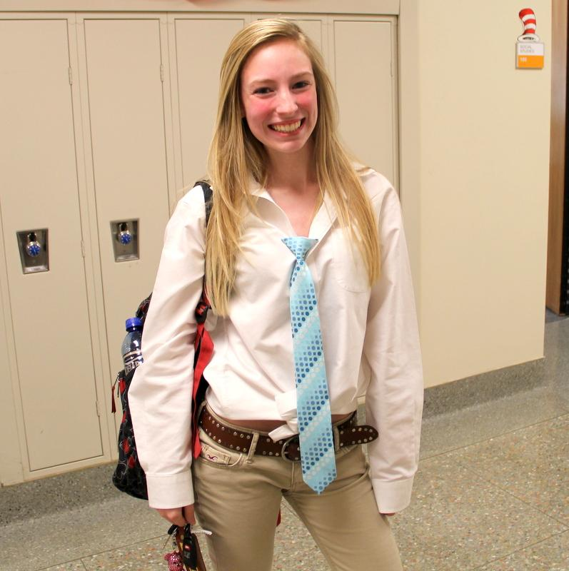 Junior Kelly Dickens joined the many teachers filing out of the school today as Teacher-Student swap day came to an end.