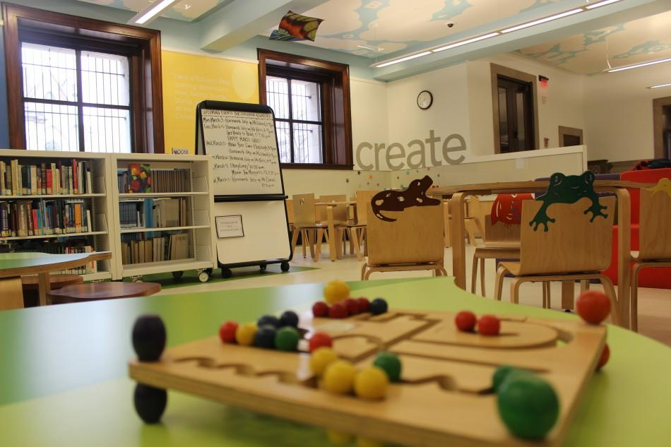 The childrens room at Central Library (Olivia MacDougal)
