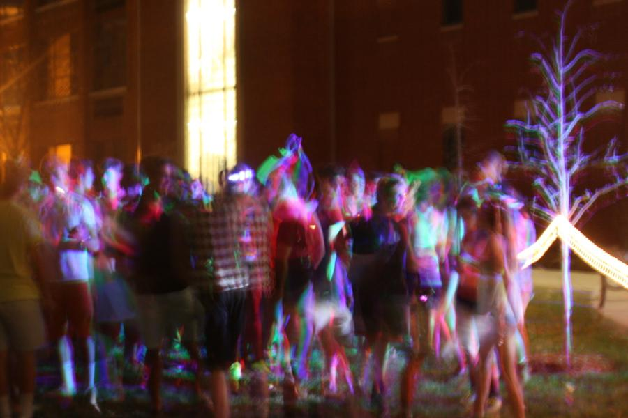 In this photo the CHS students are set into motion at last nights Electric Arena concert. Fun was had by all as students from freshman to seniors danced for hours.