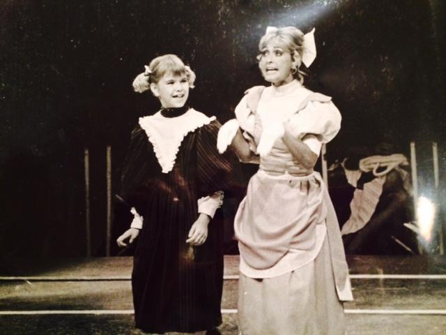 Santa Purze, left, performing in Meet Me in St. Louis as Tootie. [Photos from Santa Purze]