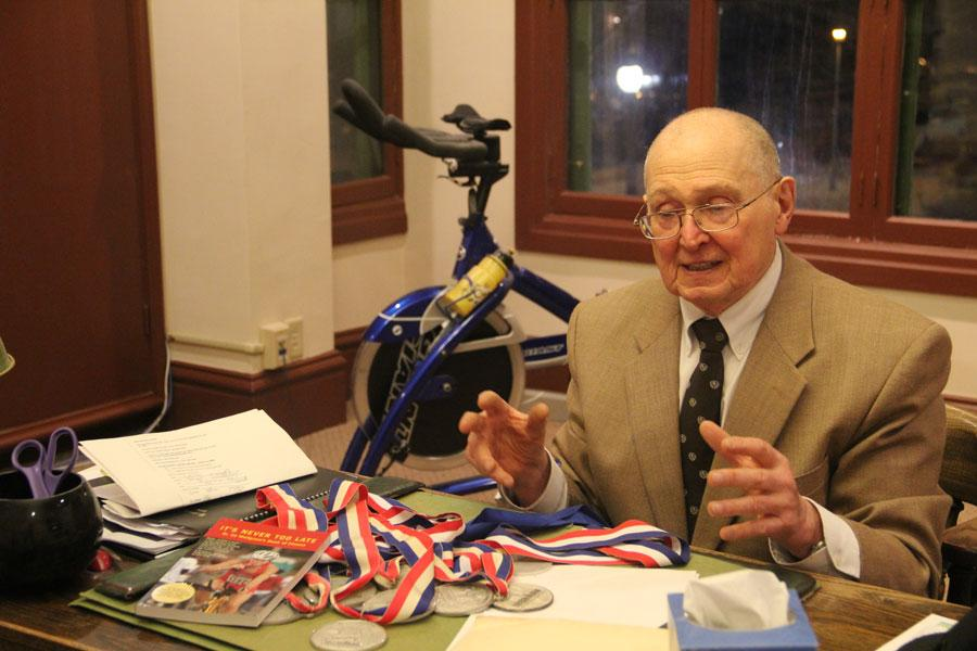 81-year-old Dr. Edwin Wolfgram, grandfather to two CHS students, has competed in 60 marathons and 200 triathlons (inlcuding 15 Ironman triathlons) since he began running at the age of 48. In addition to running his own private practice and being a professor of psychiatry at Washington University's School of Medicine, Dr. Wolfgram advocates for a lifetime of continuous fitness. Check out the story on Dr. Wolfgram in the May issue of the Globe Newsmagazine, out now!