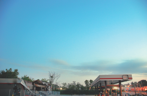 The burned QuickTrip that was destroyed after Mike Brown's shooting.