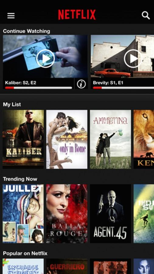 Watch movies and television on your smartphone with the Netflix app. (Photo courtesy iTunes App Store/TNS)