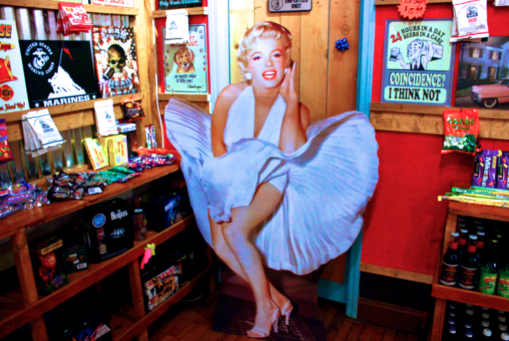 Rocket Fizz is full of vibrant and vintage decoration, including the one and only!