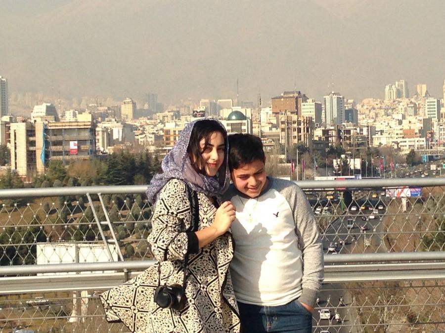 Dianati and her brother in Tehran (Photo from Dena Dianati).