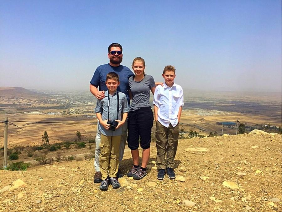 The Burris Family  gathers in the city of Mekele on their way to the Danakil Depression