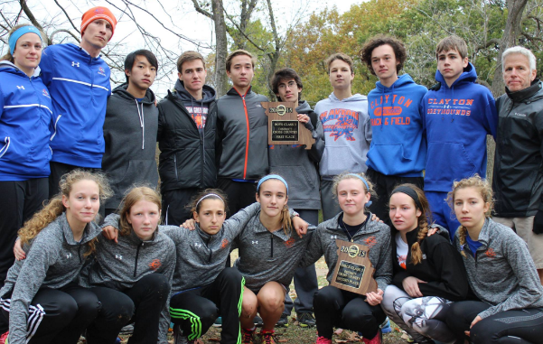 The CHS cross country team at Districts 2015. Crowe is pictured in the back row, far right. (Photo by Ava Hoffman)