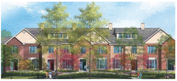 The Love Management Companys planned development for the Maryland School property.