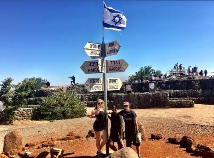 Newmark, Doze and Buttar-Miller while on their trip to Israel.