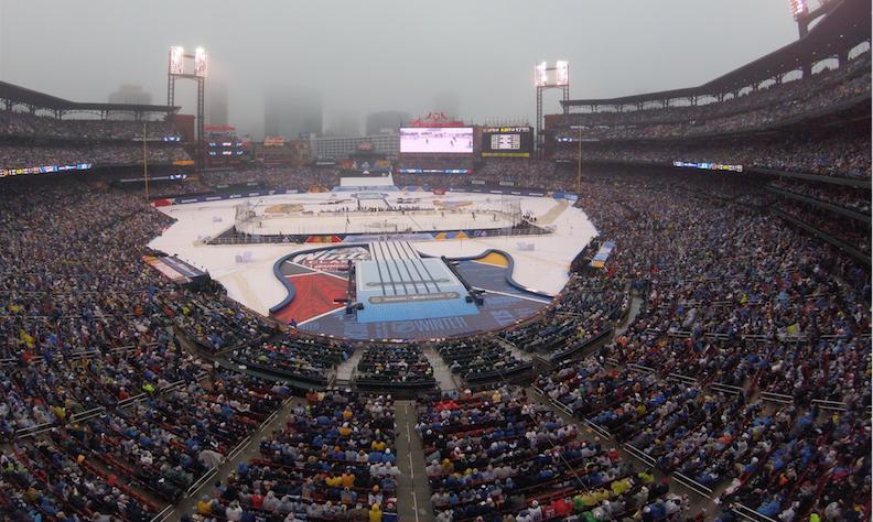 Winter+Classic+at+Busch+Stadium