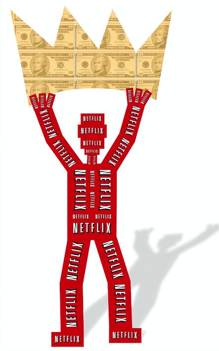 300 dpi Mike MIner illustration relating to Netflix. (Chicago Tribune/TNS)