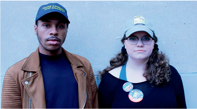 Kamal Lado, left, and Hannah Ryan, right, were part of the student walkout at CHS.