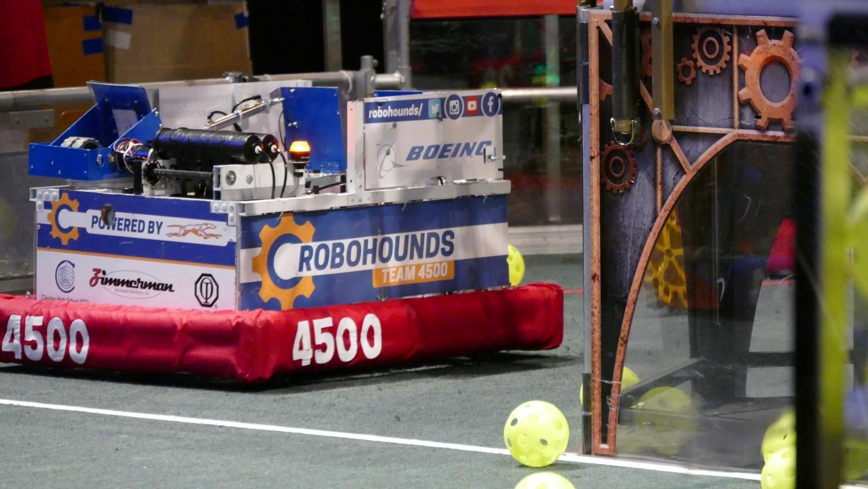 The CHS Robohounds' robot,
