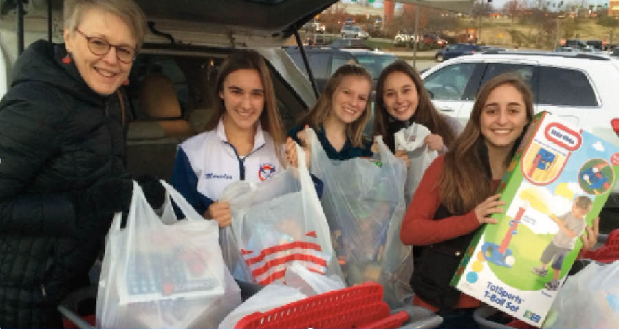 Debra Wiens and STUGO members with some of the items purchased for Bridge of Hope. Photos from STUGO.