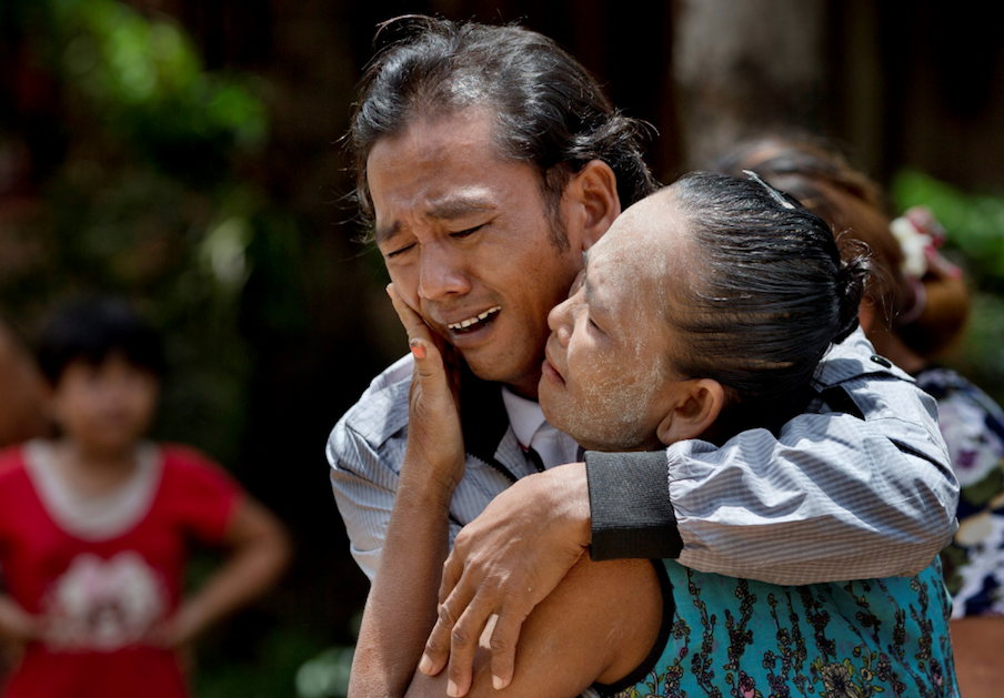 Burmese fisherman returns home after 22 years. His mother thought he was dead.  Photos from Robin McDowell.