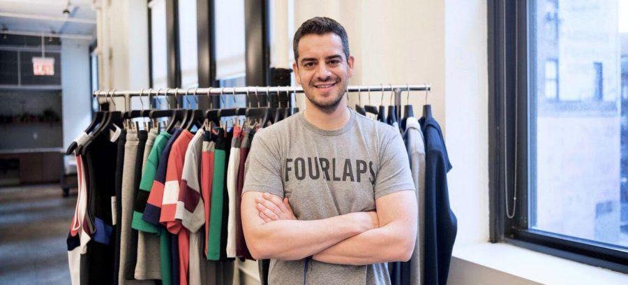 Daniel Shapiro pictured in FourLaps apparel