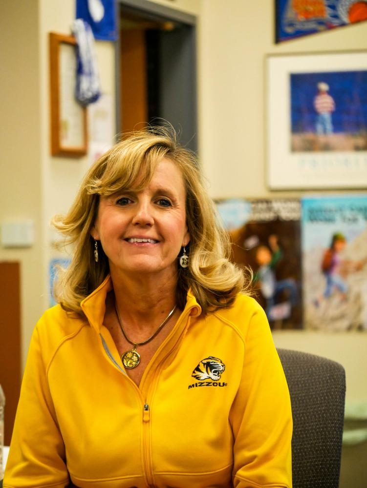 Marci Boland in her classroom