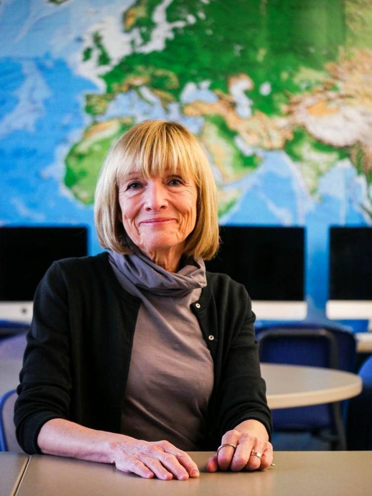 Hales-Mecham in her classroom.