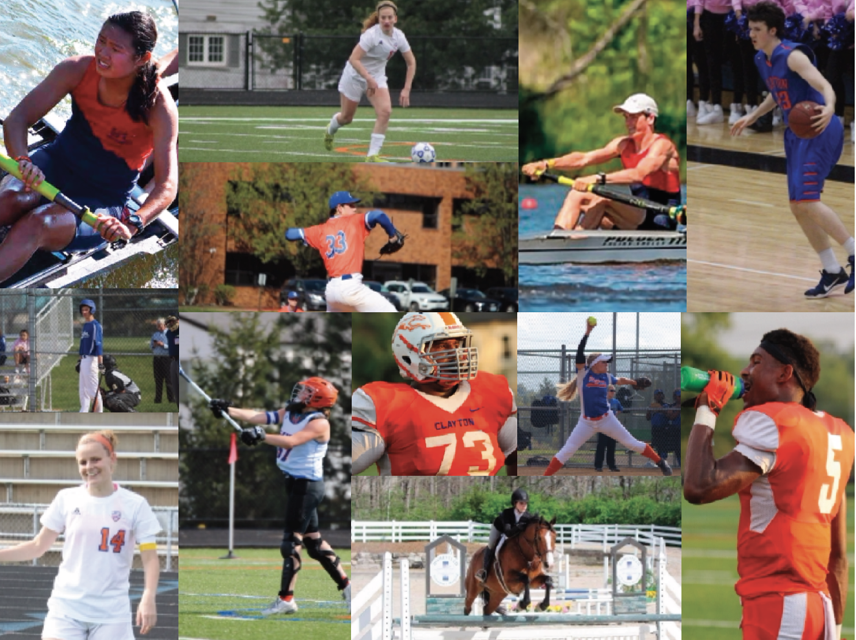 Photos of 12 CHS Next Level Athletes.