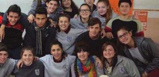 Anzilotti with her classmates.