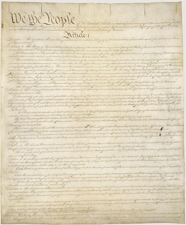 Photo+of+the+Constitution+of+the+United+States+of+America+from+the+National+Archives.++