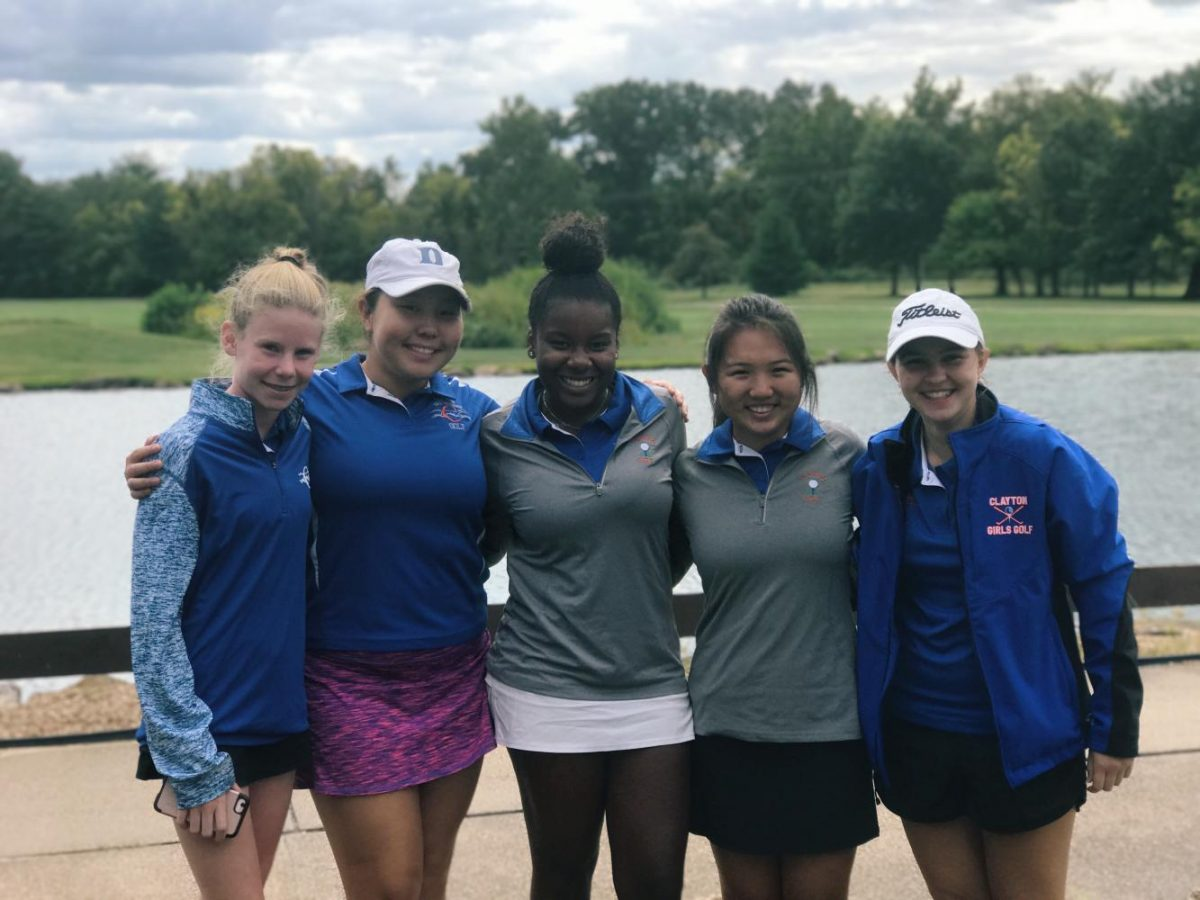 The girls varsity golf team pictured above.