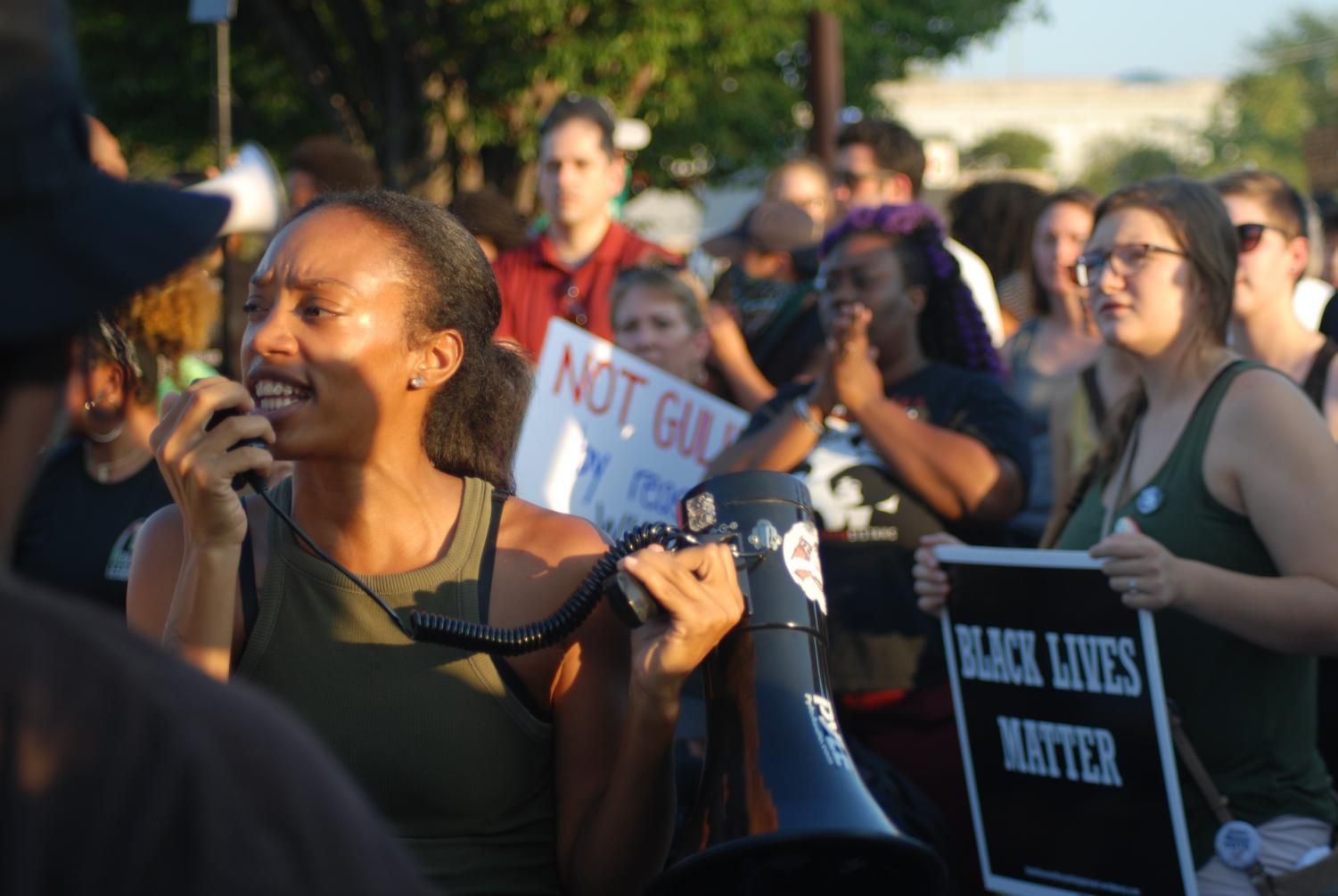 Photo from the Galleria protests.
