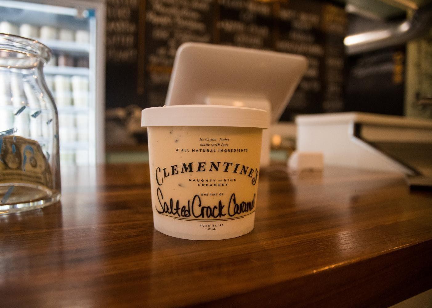 Photo of Clementine's ice cream.