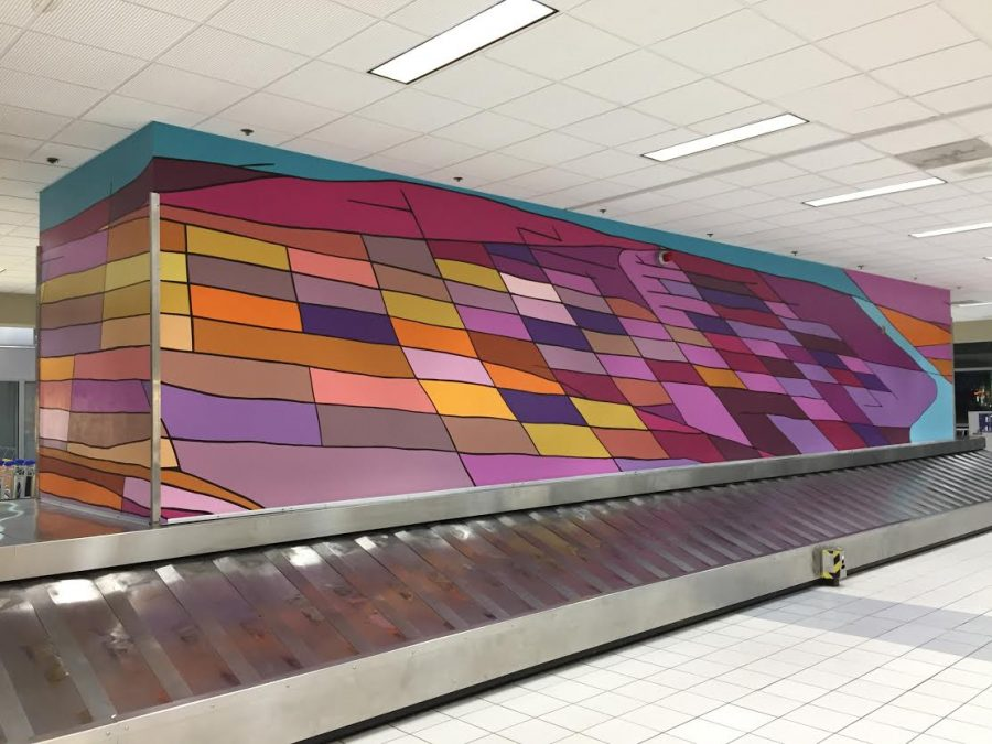 Photo of art in St. Louis Lambert International Airport.