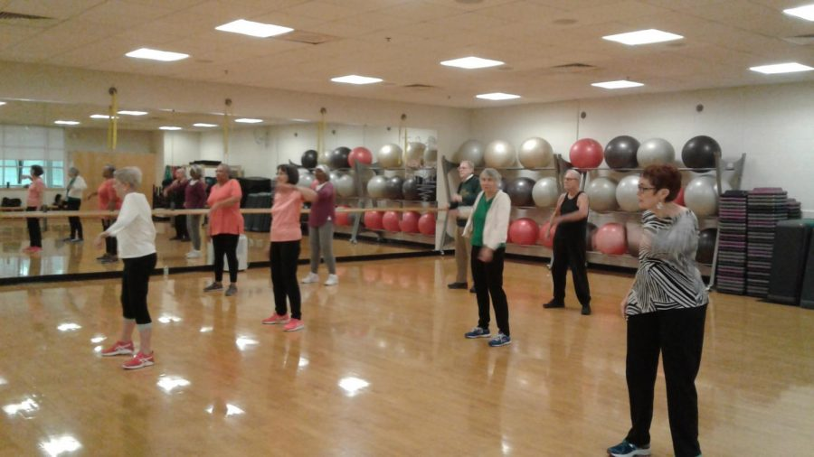 The senior's exercise class at the Center of Clayton.