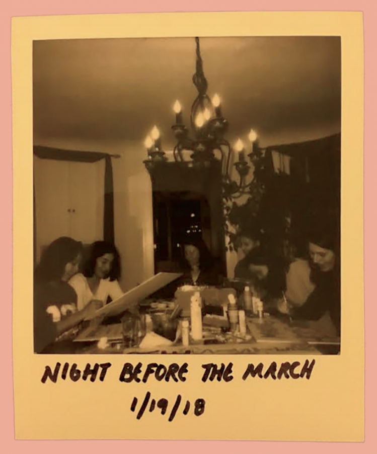 Photo taken the night before the march.