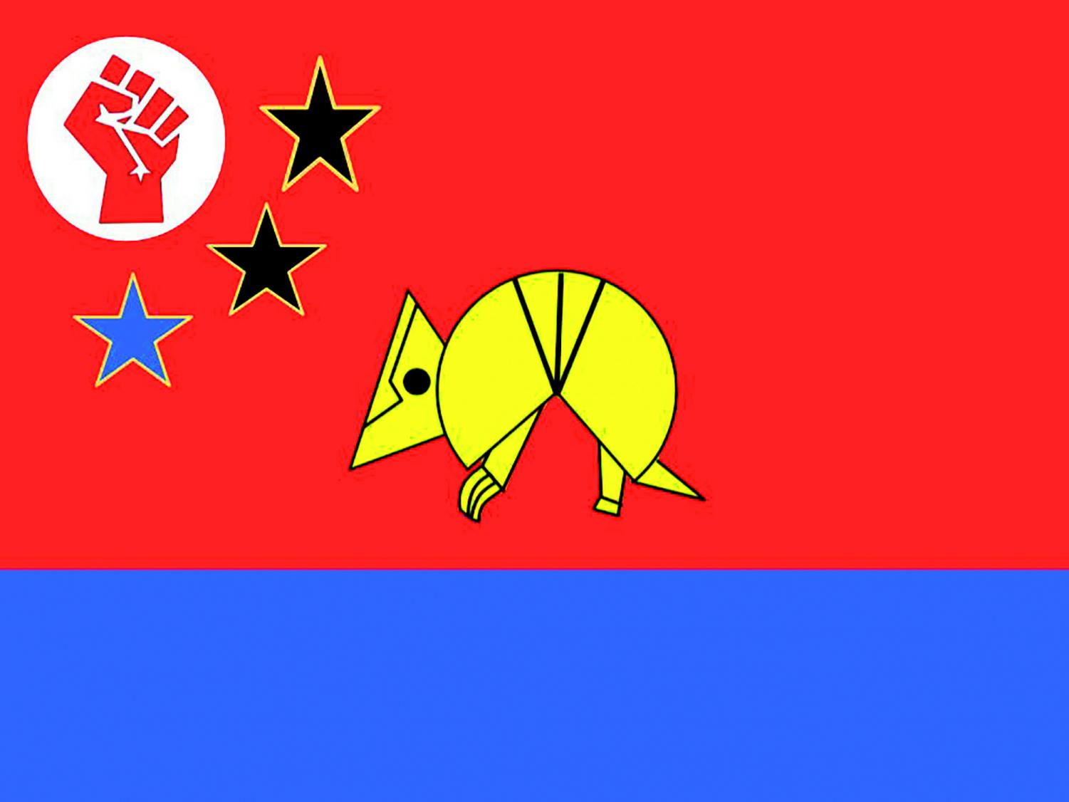The Wydown Socialist Union's flag