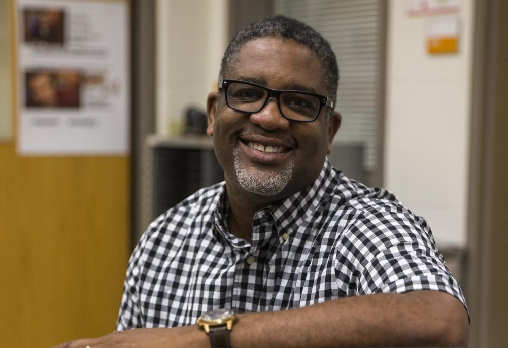 Raynard Brown, the new part-time choir teacher at CHS, talks to the Globe.