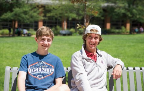 Jacob LaGesse (left) and Michael Bernard (right), Editors-in-Chief of the CHS Globe