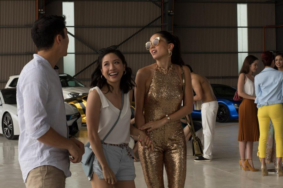 Constance Wu and Sonoya Mizuno in Crazy Rich Asians.  The film, which grossed over $193 million,  received praise for its all-Asian cast.