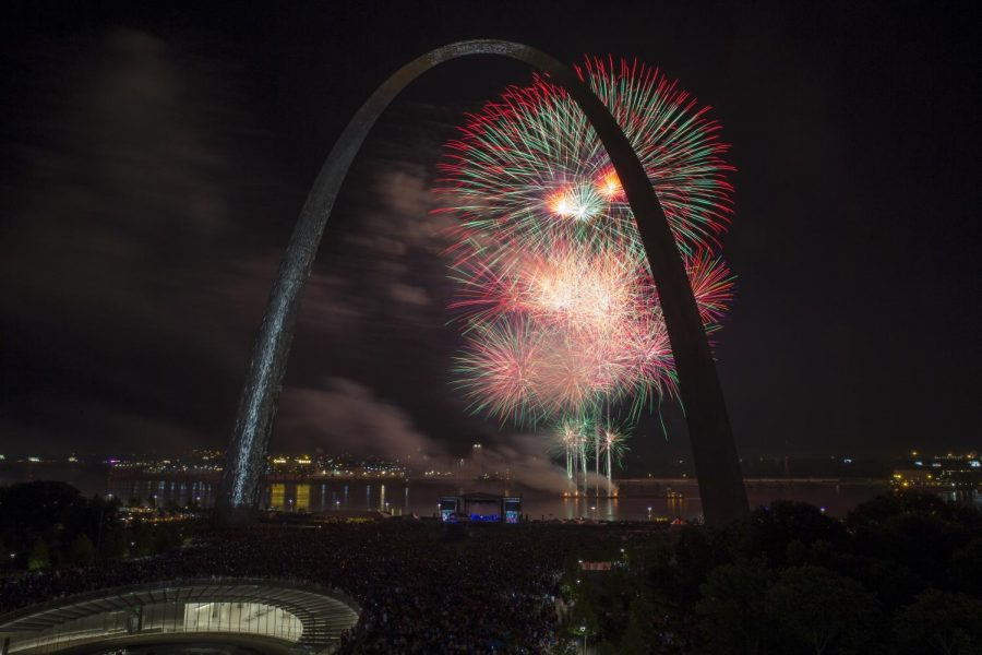 Featured Photo: Fireworks at the Arch