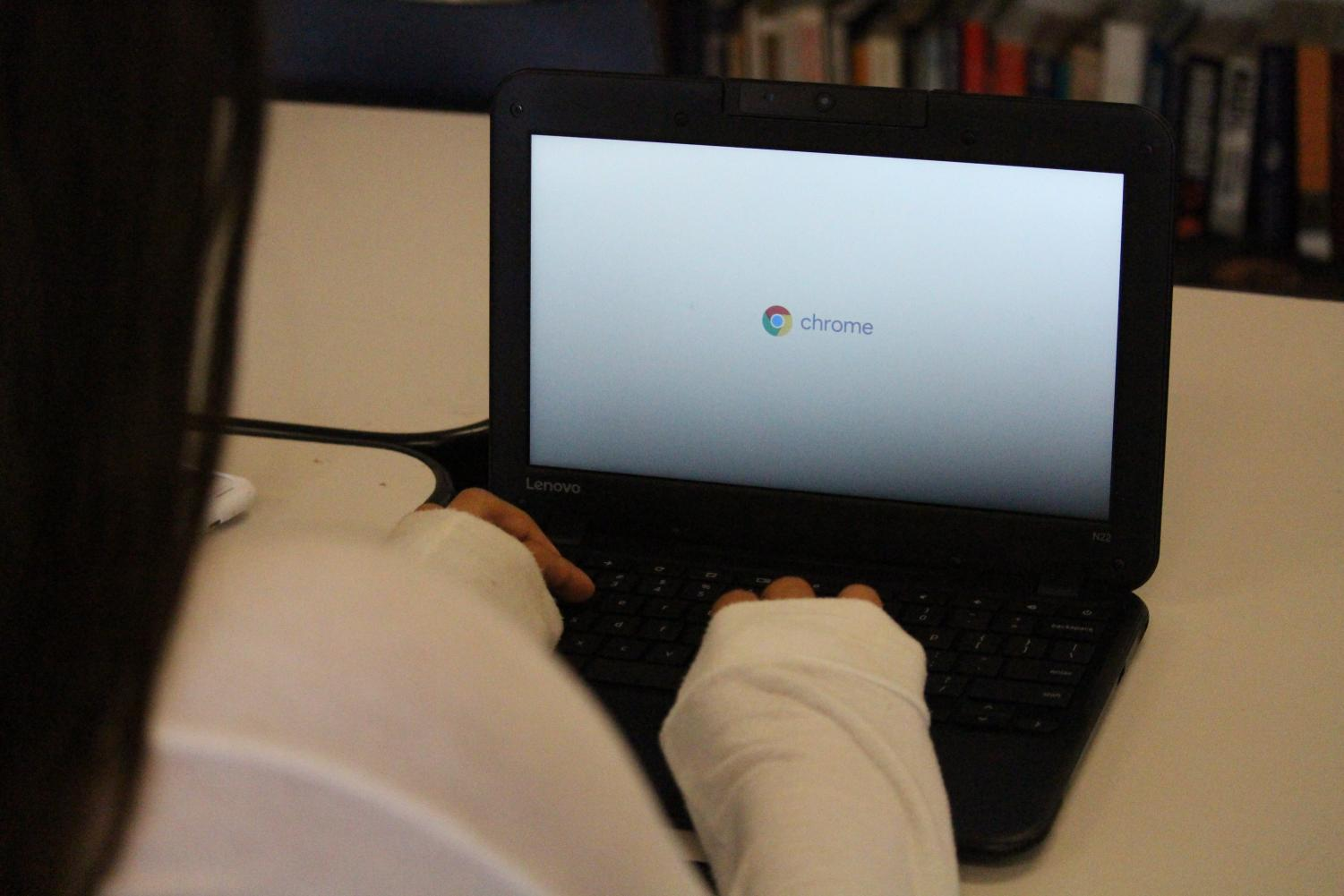 CHS students were issued individual Chromebooks this year as part of a new one-to-one computer policy implemented by the district.