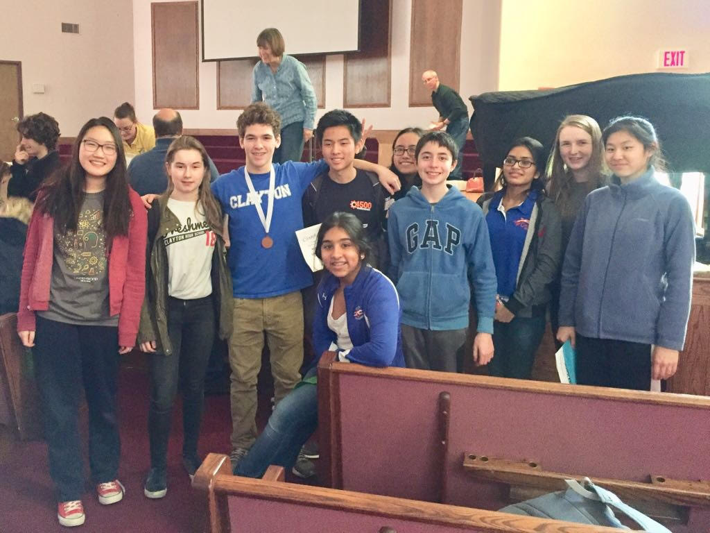 The CHS Science Olympiad team attends a local competition.