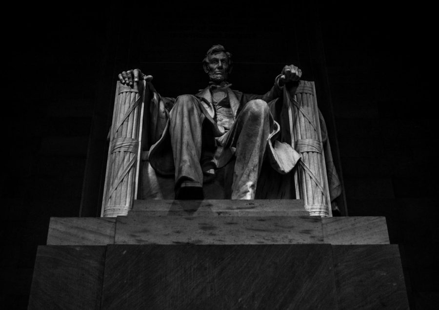 The Lincoln Memorial in Washington, D.C. commemorates the 16th president, who famously stated