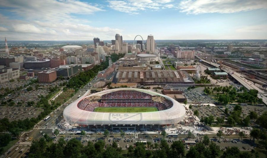 A photo of what the proposed stadium would look like.
