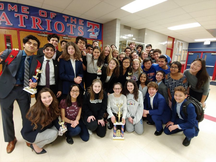 The+varsity+CHS+Speech+and+Debate+Team+celebrates+their+victories+after+the+Independence+Winter+Classic.
