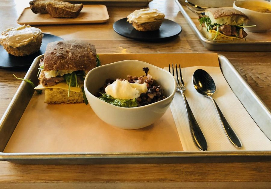 Vicia appears to have a small menu but offers numerous vegetable-forward dishes, including sandwiches, soups and desserts.